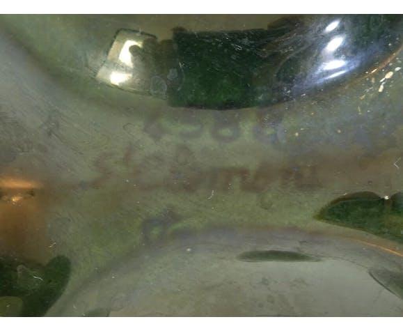 Plat à huitres en faience de St Clement barbotine