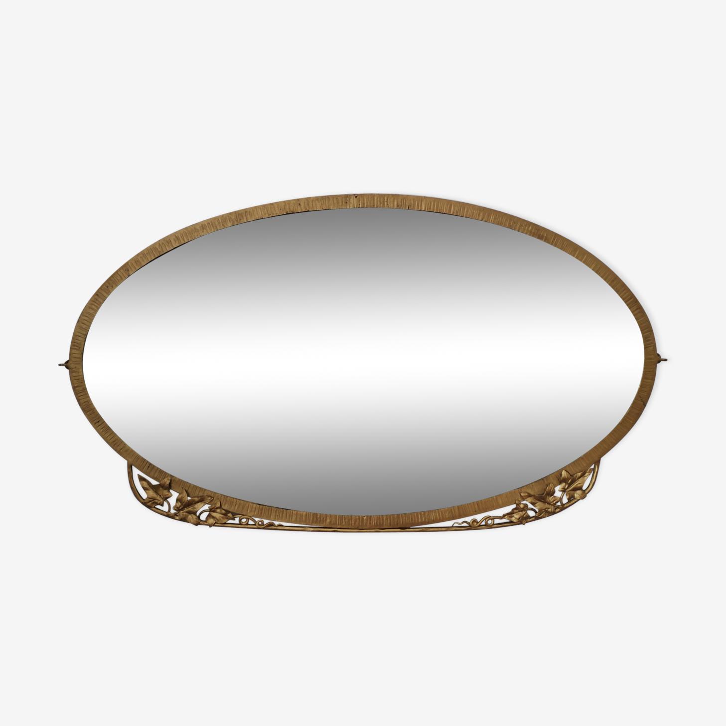 Mirror Art Deco beveled circa 1900 82x47cm