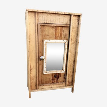 armoire en merisier bois mat riau marron vintage usg7hfb. Black Bedroom Furniture Sets. Home Design Ideas