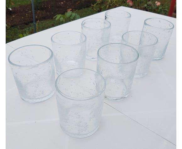 8 verres à sangria de Biot années 1980