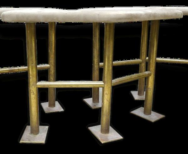 Banquette haute de bar Design Art déco