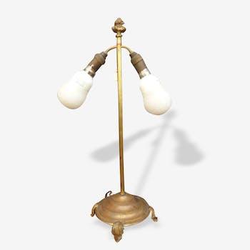 Lampe XIXème en laiton