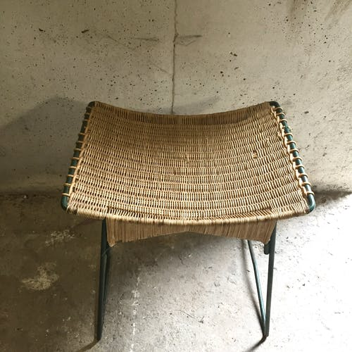 Metal and wicker stab 1950