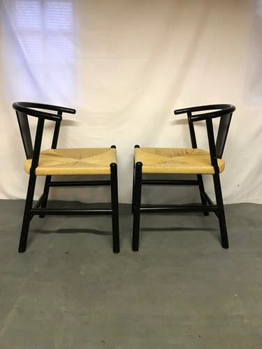 Paire de chaise scandinave bois et corde