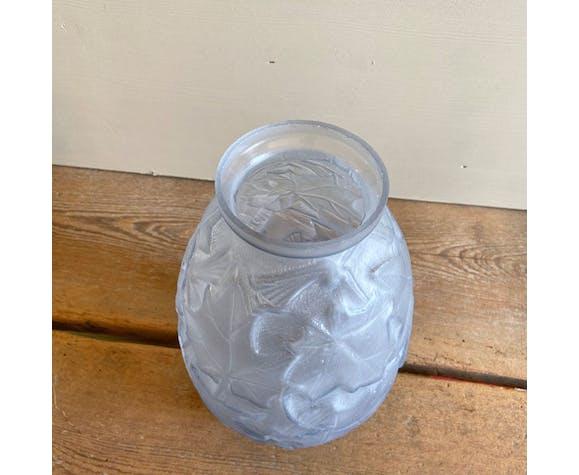 Vase Art Déco bleu signé Stella