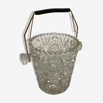 Ice glass and brass bucket