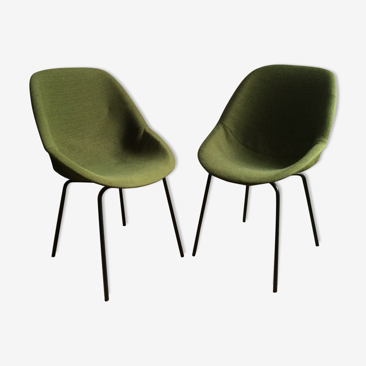 Pair of chairs design Geneviève Dangles and Christian Defrance. 1950 s