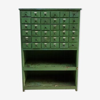 Old industrial chest of drawers apothecary cabinet