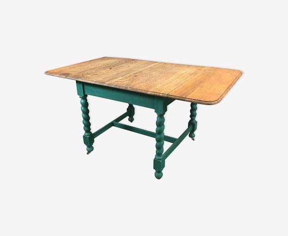 Table anglaise à abattants en chêne années 30