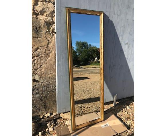 Miroir Louis XVI entre-deux doré à la feuille d'or 50x150cm
