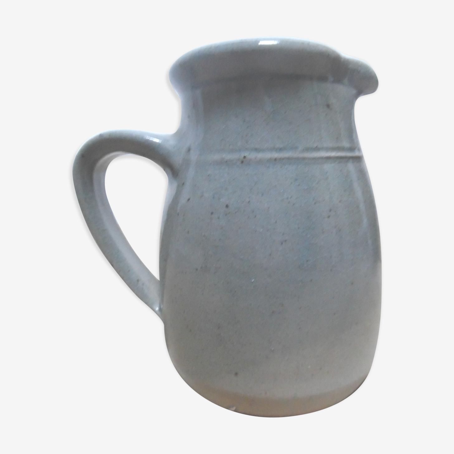 Glazed stoneware pitcher