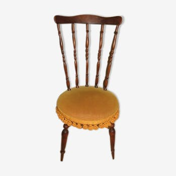 Chaise velours ocre