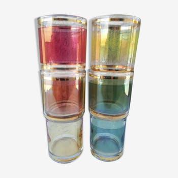 4 50s beer glasses with gilding