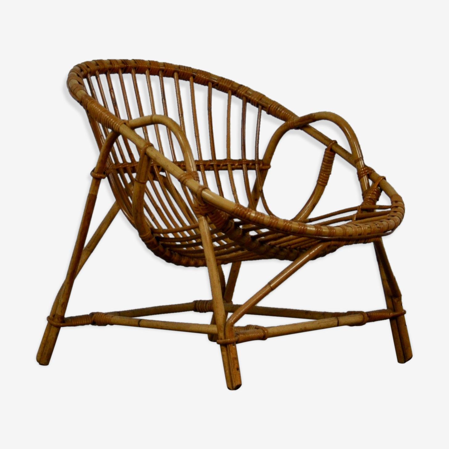 Armchair rattan 1960 s
