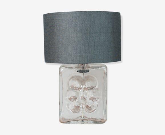 Pied De Lampe En Verre Annees 1970 Verre Et Cristal Transparent