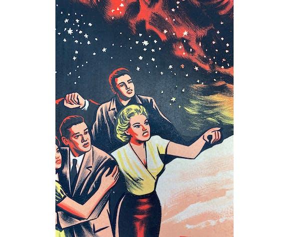 Affiche cinéma original Le Météore de la nuit 60x80cm  Richard Carlson, Jack Arnold