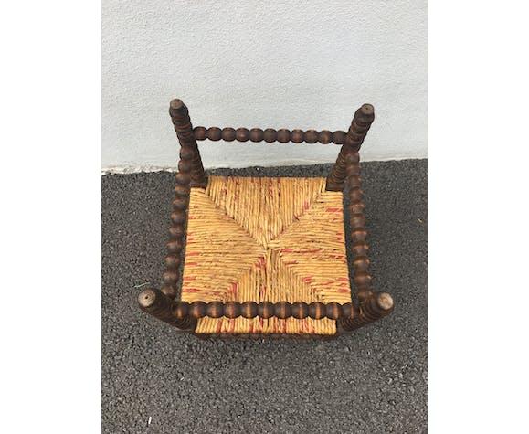 Chaise d'angle en paille pour enfant