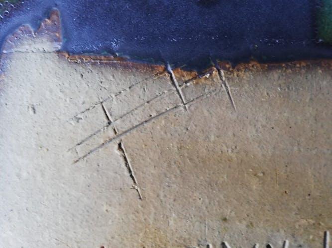 Plat en céramique vintage