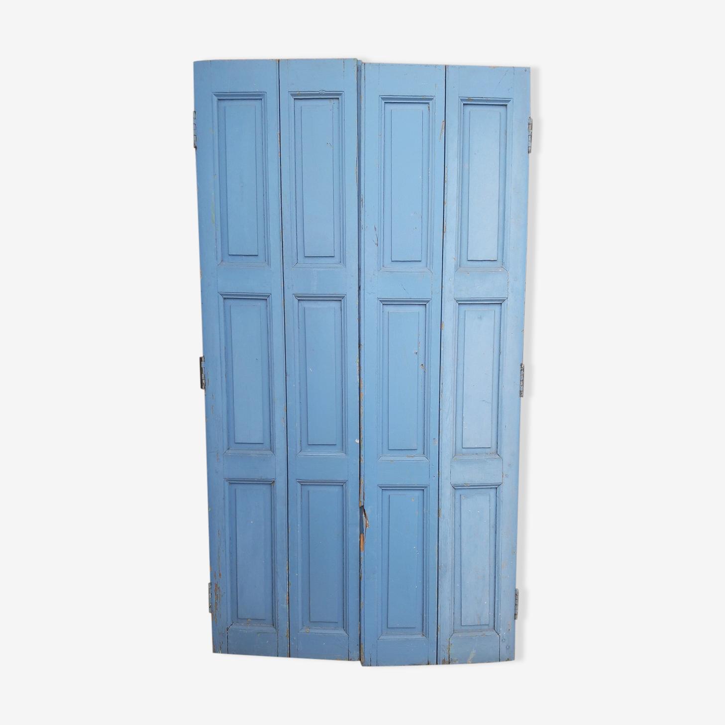 Ensemble de 4 volets portes boiseries bois peint 1930/40