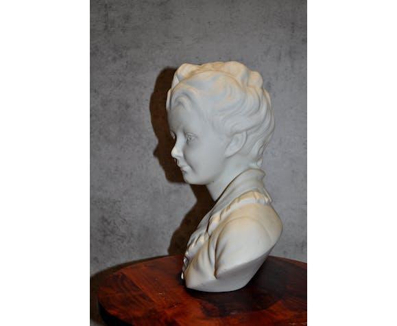 Buste enfant porcelaine biscuit Tharaud Limoges