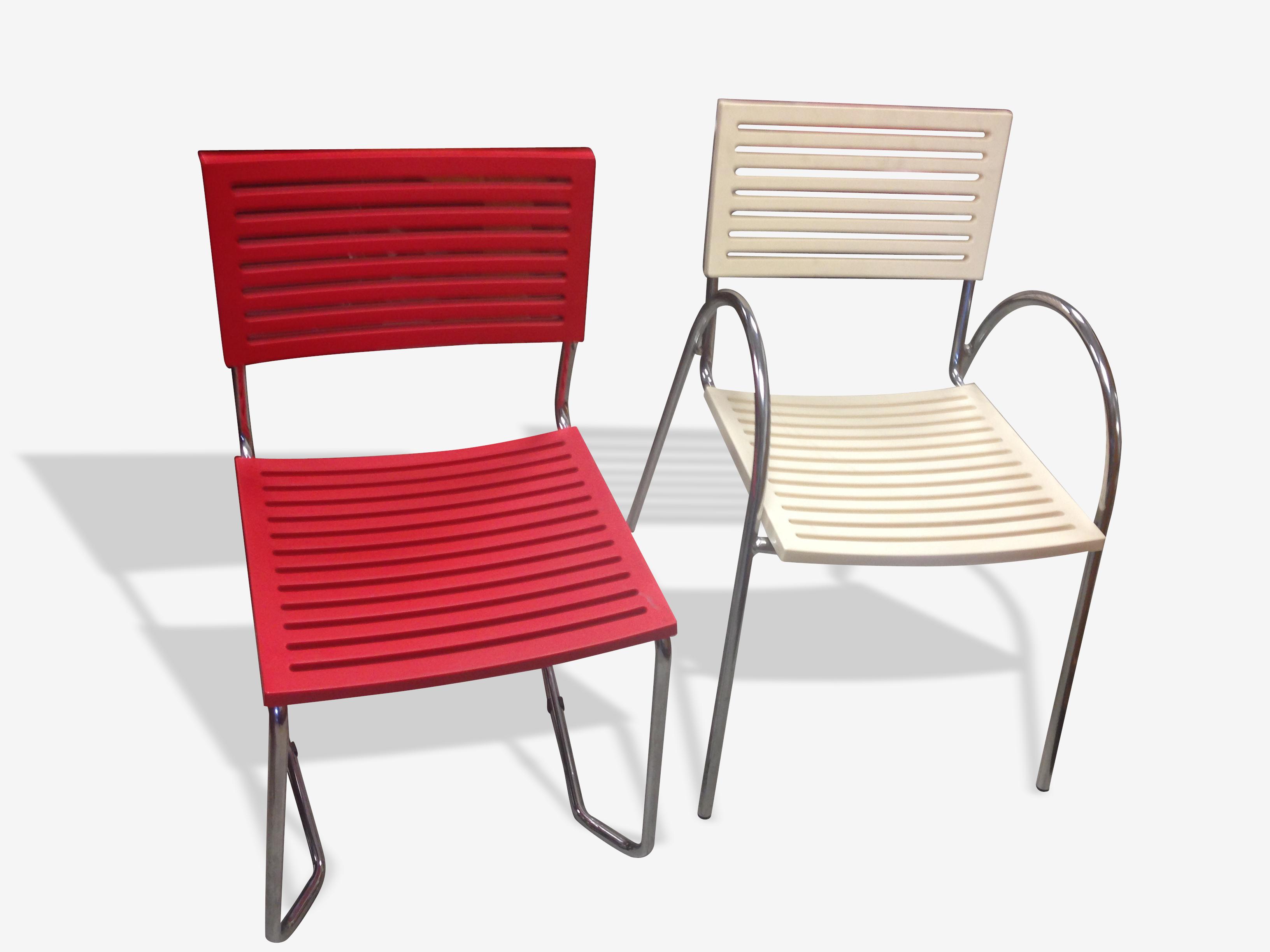 Paire de chaises d'accueil années 80