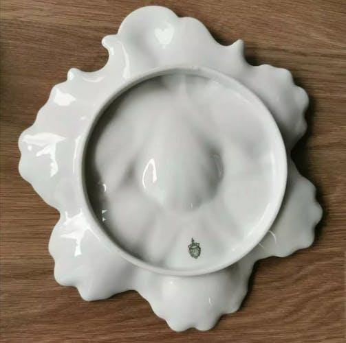 Service à huîtres en porcelaine de Limoges