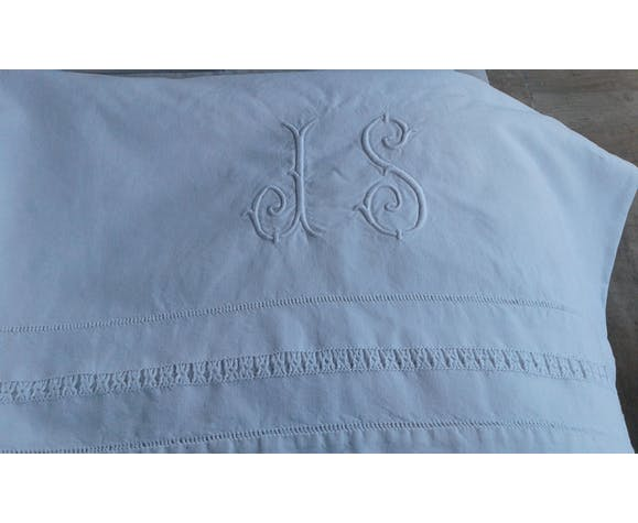 Drap ancien coton lin