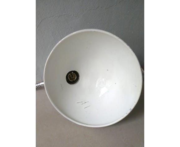 Lampe de bureau articulée en métal gris des années 60