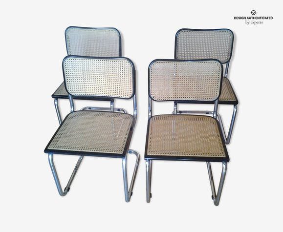 Series of 4 chairs model cesca B 32 Marcel Breuer
