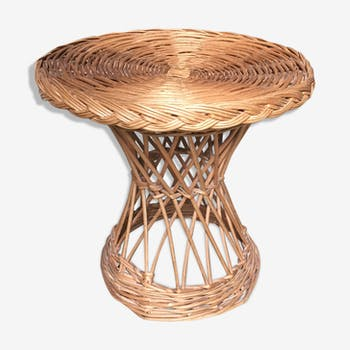"Table basse ""Diabolo"" osier"