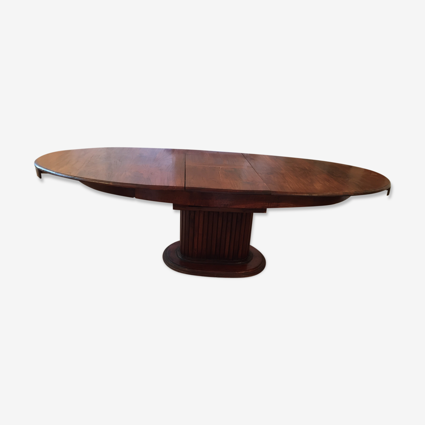 Table Ovale Ancienne Avec Rallonge Bois Materiau Bois Couleur