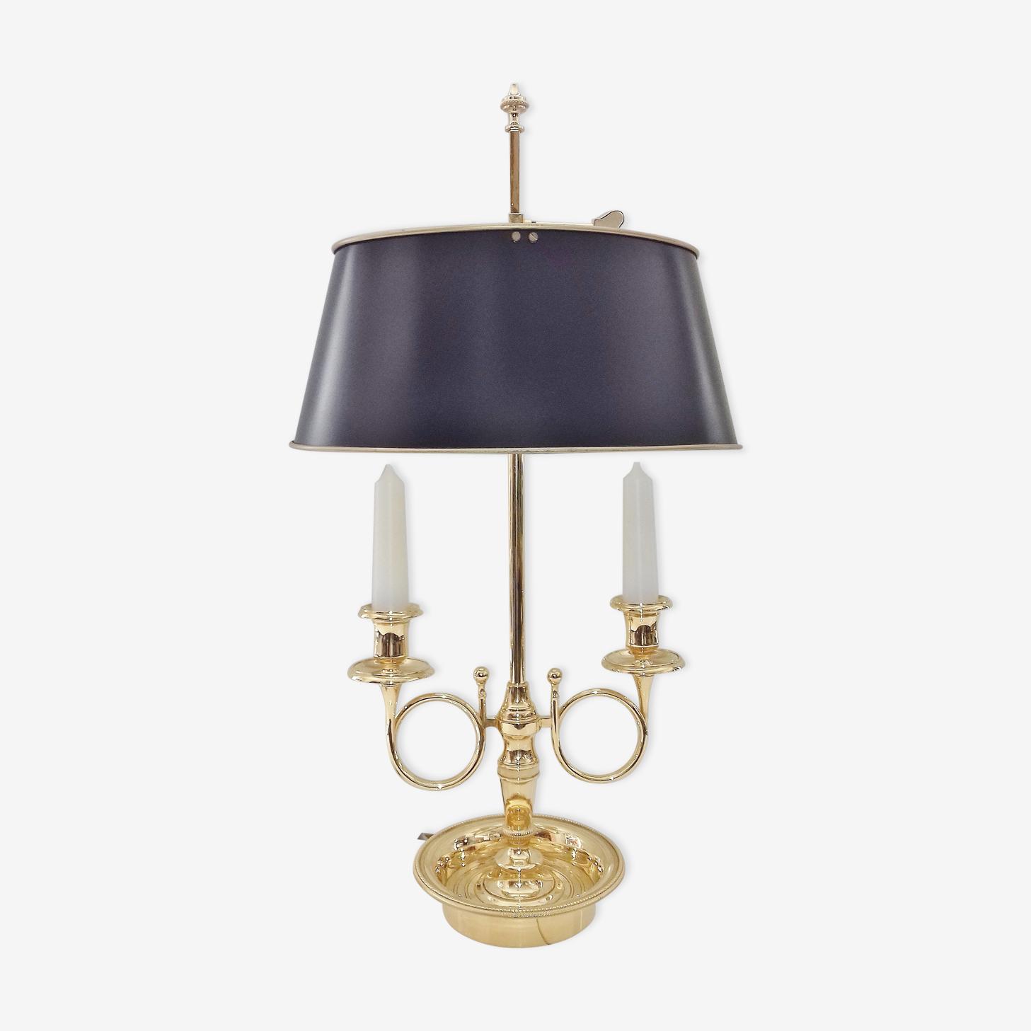 Lampe bouillotte salon bureau laiton bronze doré