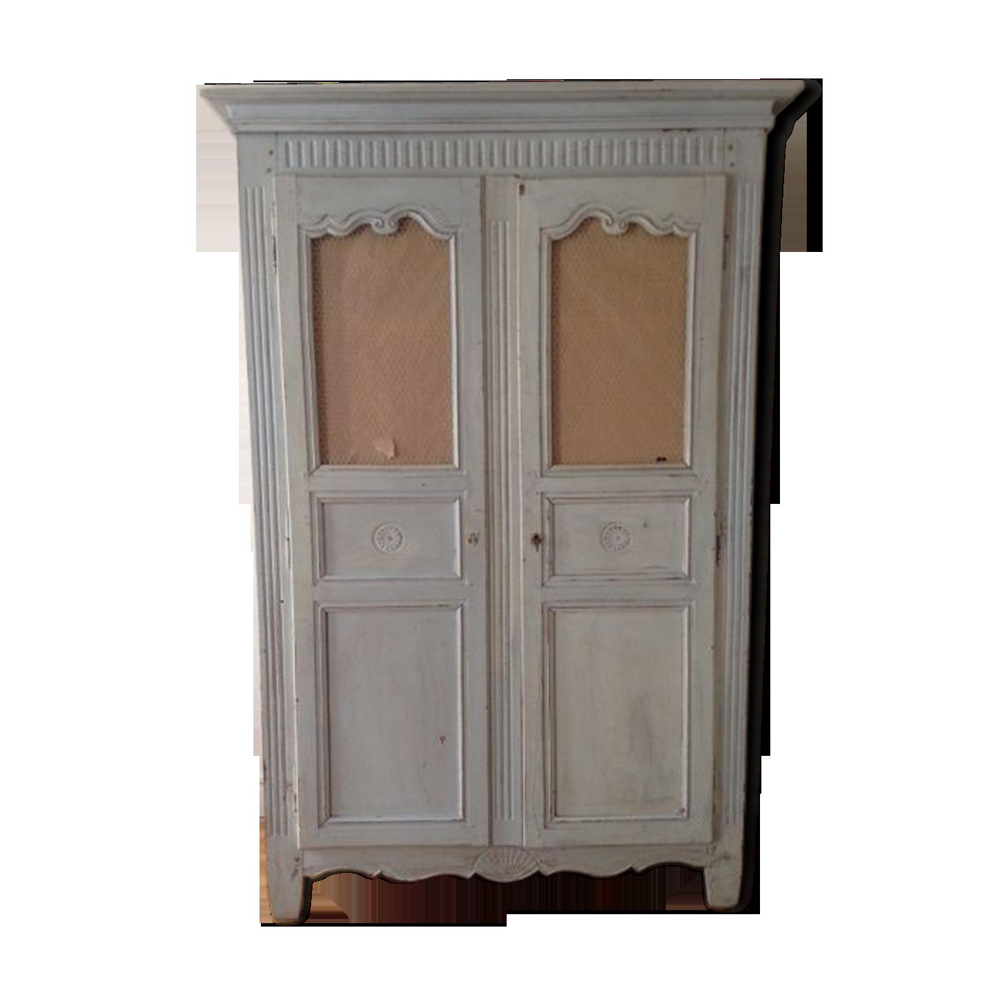 Steens Group 3171120269001F Armoire Monaco Blanc//Gris 145 x 60 x 201 cm