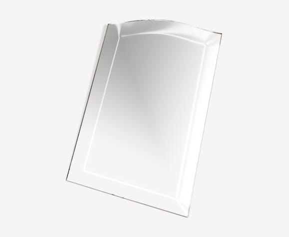 Miroir biseauté ancien 45x30cm