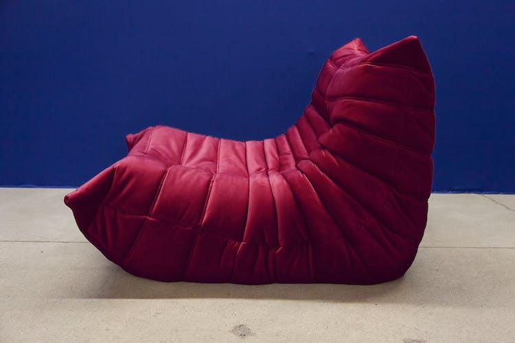 """""""Togo"""" sofa set velvet by Michel Ducaroy for Ligne Roset"""