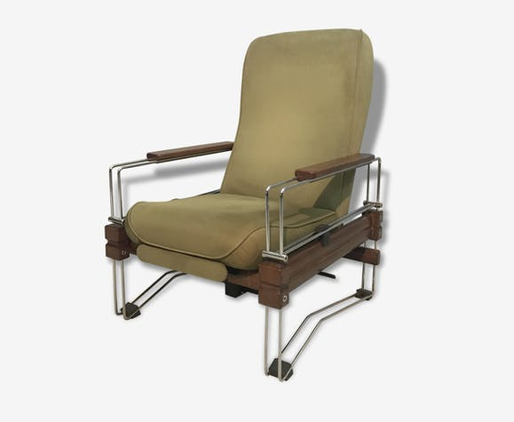 Fauteuil Relax D Everstyl 1970 Made In France Bois Matériau