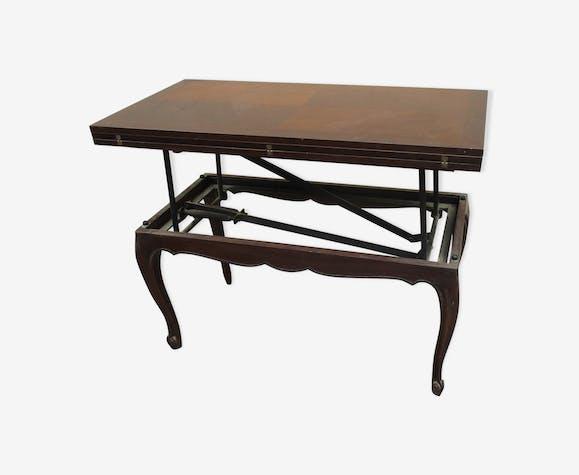 Table Basse Vintage Relevable Des Années 60 Bois Matériau Bois