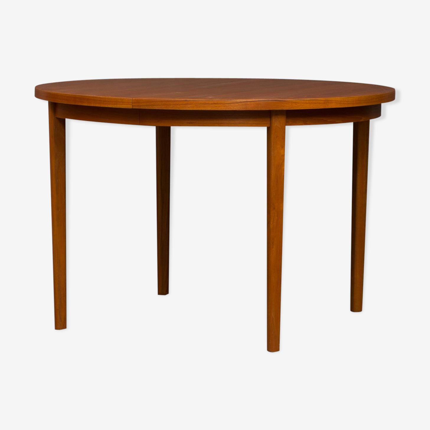 Table plateau rond en teck danois
