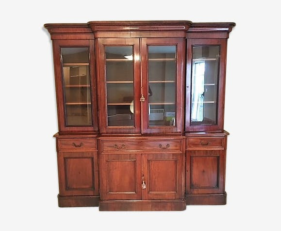 Bibliothèque-secrétaire style anglais - bois (Matériau) - marron ...