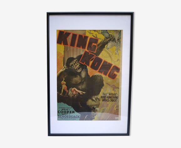 King Kong poster 70s size 64x34cm