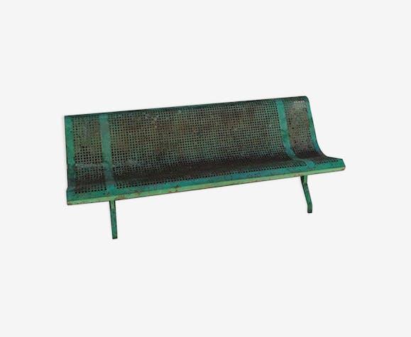 Banc de jardin vintage en métal - métal - vert - vintage ...