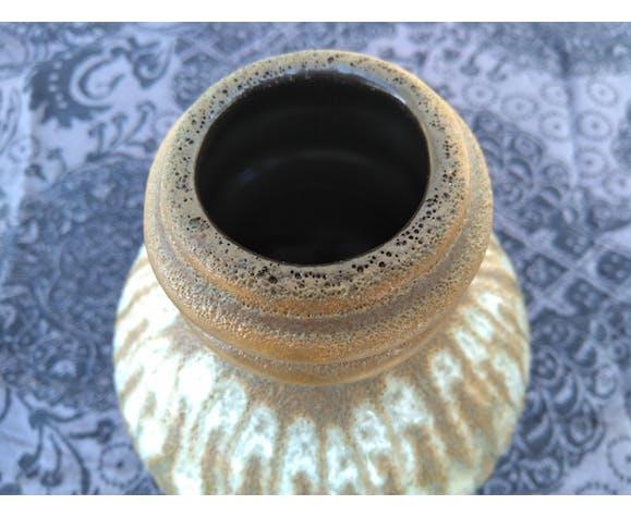 Vase boule vintage en grés flammé fat lava