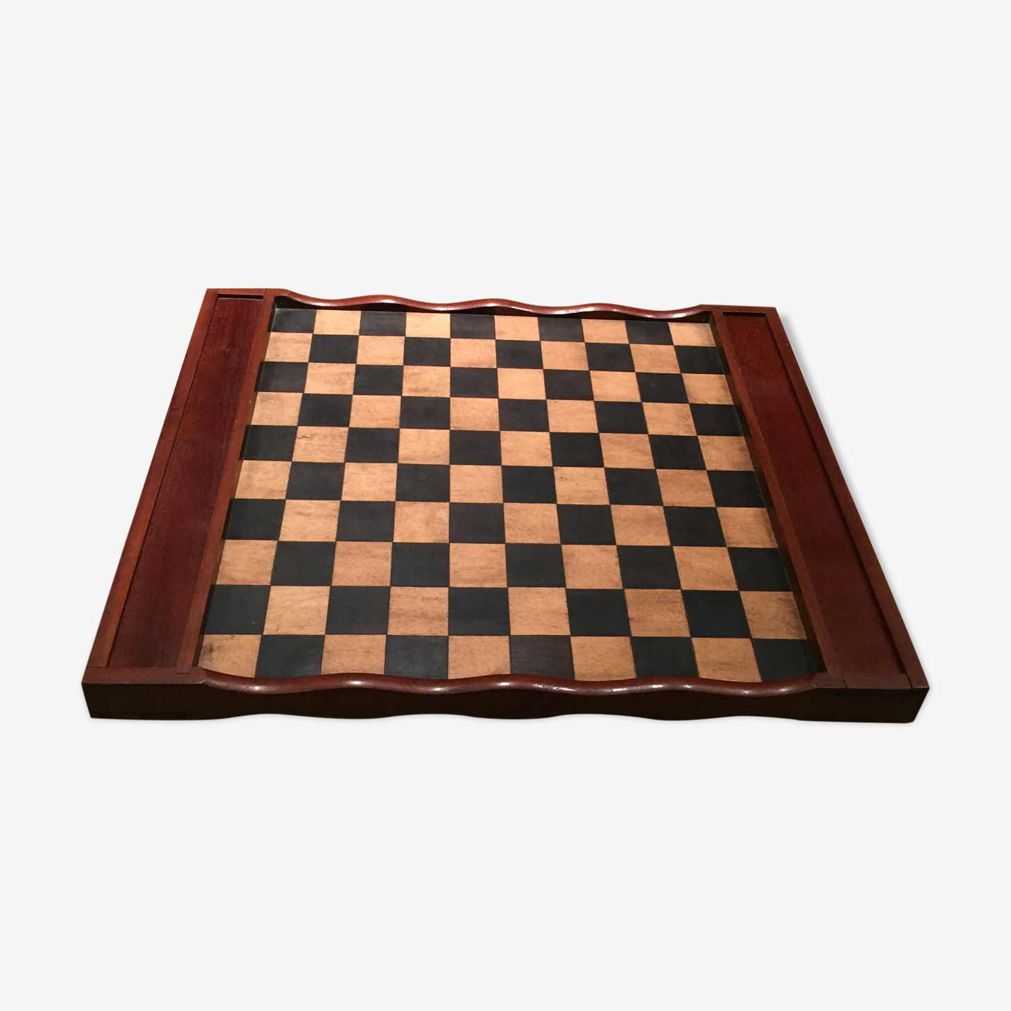 Old checkers and chess game