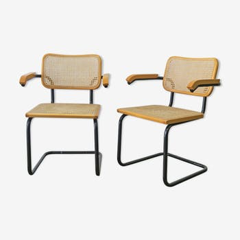 Pair of armchairs b64 by Marcel Breuer