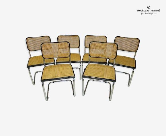 Suite de 6 chaises Cesca B32 Marcel Breuer 1980