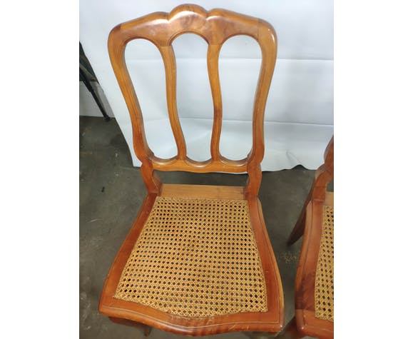 4 Louis Philippe-style cane chairs