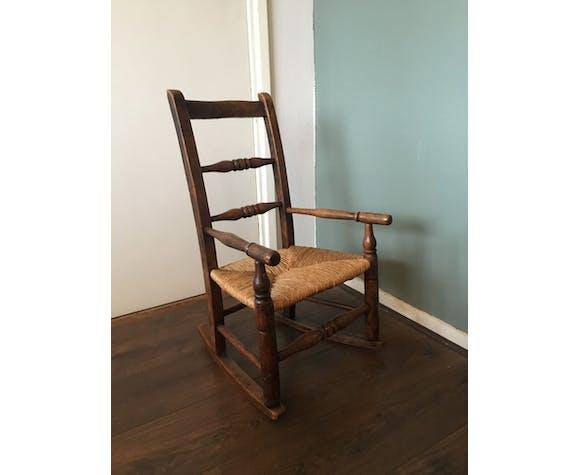 Vintage Children's Oak Rocking Chair
