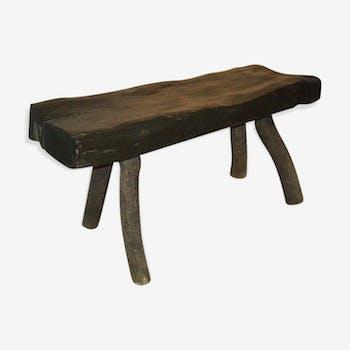 Ancien banc 4 pieds bois massif
