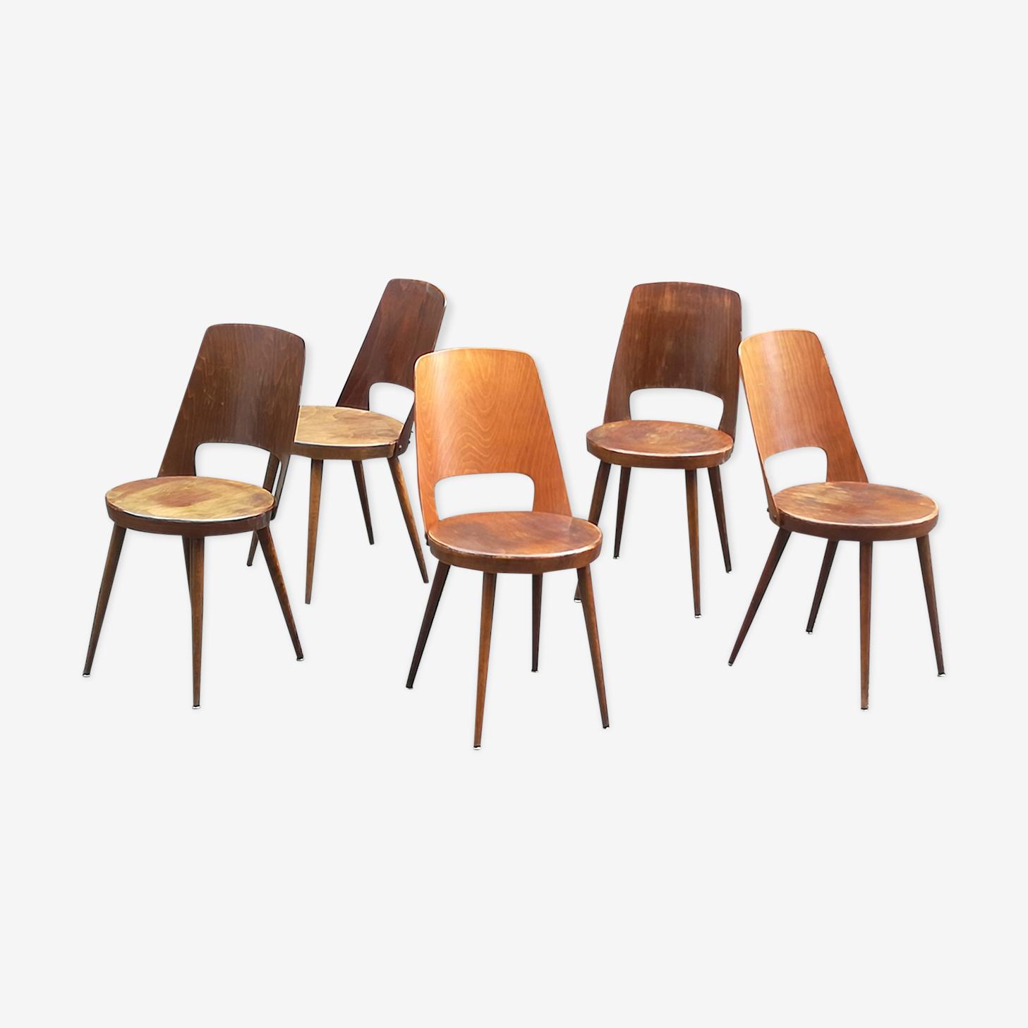 5 bistro chairs Baumann Mondor