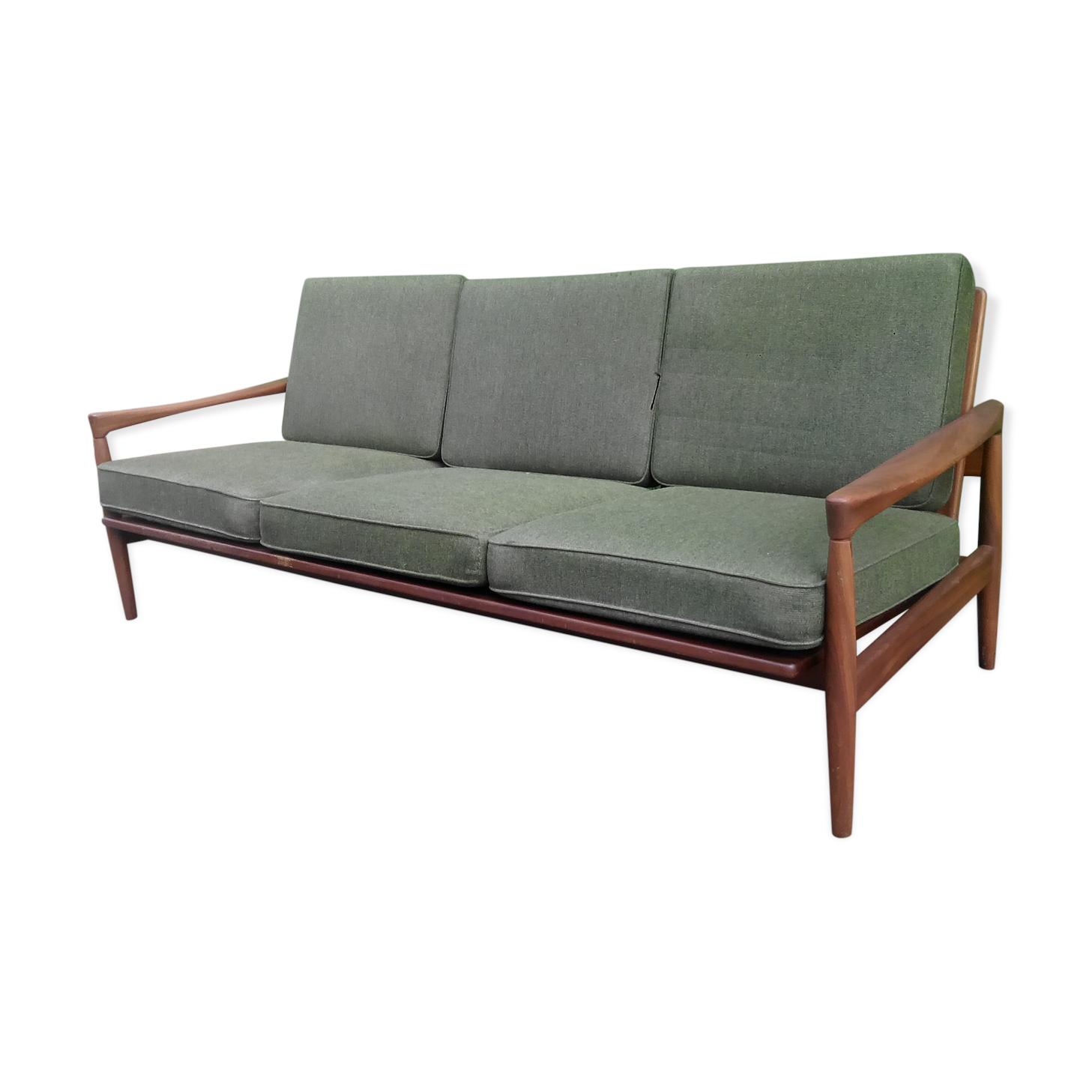 Canapé scandinave en teck vintage
